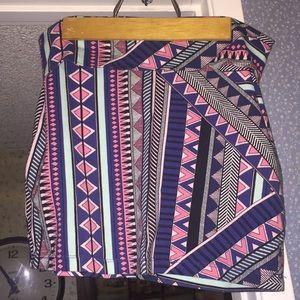 Charlotte Russe tribal mini skirt